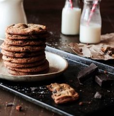 Hefty Chocolate Chunk Ginger Cookies