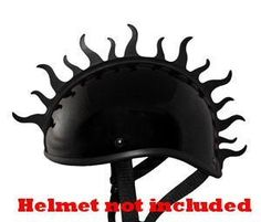 Motorcycle Helmet Peel and Stick Rubber Mohawk Helmets Mohawks Helmet Not Included. Full Guarantee + ships very fast from ShubanditcompanyLLC. soft rubber peel and stick helmey mohawk - (Helmets Not Included). 16 inches long can be cut if needed made in black rubber. great add on helmet accessories for all helmets. tested to over 200MPH's ships fast via US mail to your mailbox.