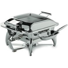 Buy SMART Buffet Ware Square Chafing Dish with Glass Lid, Base and Spoon Holder sale | Shop All Product 2014