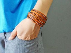 Jewelry bangle leather bracelet buckle by jewelrybraceletcuff, $8.00