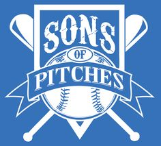 "T-shirt graphic for ""Sons of Pitches"" softball team"