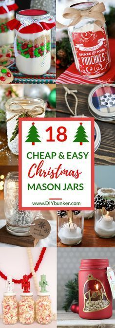 These 18 DIY Christmas Mason Jars Are PERFECTION! I love that these can be used for decoration or for gifts!