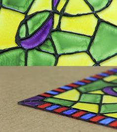 Aprende a hacer un vitral decorativo Súper Fácil !