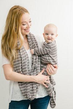 Wrap yourself and your baby in the luxuriously soft bamboo nursing cover and knotted gown by Native Wilds.
