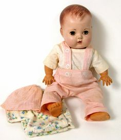 tiny tears doll | Vtg 1950s American Character Tiny Tears Doll Original Rubber Body 13 ...