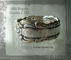 Oneida LTD 1881 Rogers silver spoon ring - www.flearoom.fi