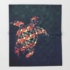 Throw Blanket featuring The Pattern Tortoise by VessDSign
