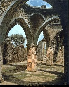 The Ruins of Kilwa (in modern day Tanzania) - ''By the 12th century, Kilwa had become the most powerful city on the East African coast. At the zenith of its power in the 15th C., the Kilwa Sultanate owned or claimed authority over the city-states of Malindi, Mombassa, Pemba, Zanzibar, Mafia, Comoro, Mozambique, Sofala, and the trading posts across the channel on Madagascar.''