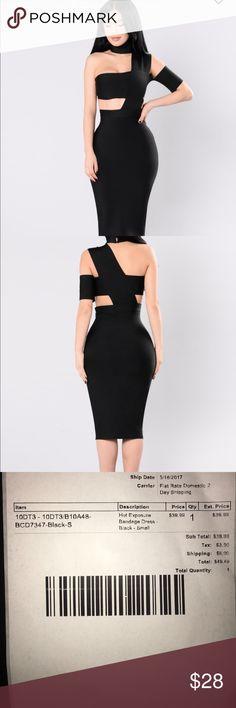 Fashion Nova Bandage Dress Never worn. With tags. Fashion Nova Dresses Midi