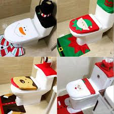 Christmas Decorations For Home Santa Claus Elk Snowman Toilet Seat Cover and Rug Bathroom Set Natal Navidad 2016 Christmas Elf, Christmas Themes, Christmas Ornaments, Holiday Decor, Christmas 2016, Christmas Design, Christmas Bathroom Sets, Christmas Interiors, Bathroom Rugs