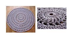 Crochet pattern Pdf doily crochet rug by dziergalnia on Etsy