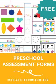 Preschool Assessment {Free!} » One Beautiful Home