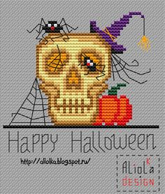My tvorilki: Halloween ... free chart cross stitch