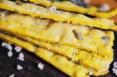 Crisp, crunchy, healthy, filling, and beautiful Turmeric, Fennel, and Sea Salt Crackers! They are great on their own, or as an accompaniment to fruit & cheese! You would never guess that they are gluten free! So good!