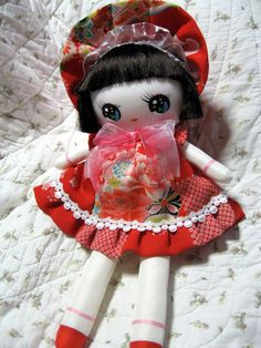 bunka doll from Japan Miniture Things, Fabric Dolls, Vintage Japanese, Plushies, Barbie, Artist, Cute, Baby Dolls, Tela