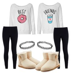 """""""Best friends """" by gemini-lady ❤ liked on Polyvore featuring NIKE, UGG Australia, women's clothing, women, female, woman, misses and juniors"""