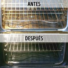 Para limpiar el horno, puedes usar el siguiente método. Toma 1 cucharadita de bicarbonato de sodio, agrega 1 cucharada de detergente para trastes y una cantidad suficiente de agua para obtener la consistencia de una masa para crepes. Aplica la pasta sobre la superficie manchada y deja que haga efecto durante 15 minutos. A continuación, lava el horno.