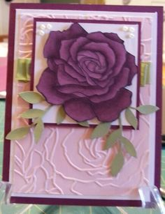 fifth avenue floral stampin up with rich razzleberry blendabilities