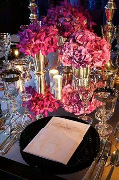 Love the pink tones design by Colin Cowie
