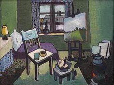 cydoniasan:    Studio, oil on canvas by Polish painter Ewald Gawlik 1919-1993  simena:    Ewald Gawlik