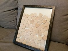 http://ift.tt/2tOyME3 built our wedding guest book from a shadow box