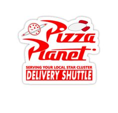 This is an altered version of the Pizza Planet logo from Disney's classic animated film Toy Story. I've made some minor adjustments with text and flipped a few pieces. I've also added the rocket ship from the top of the Pizza Planet truck in the logo for differentiation and enhancement purposes. Available on sweatshirts, graphic tees, phone cases, pillows, posters, comforters, notebooks, drawstring bags, and more. All are available in the same color scheme as the...