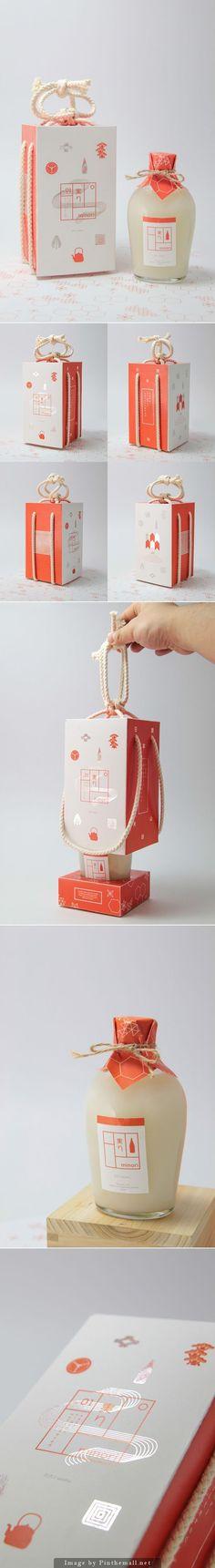 非常漂亮的米諾酒的包裝經由https://www.behance.net/gallery/17444375/Minori-Sake創建包裝歌姬PD策劃: