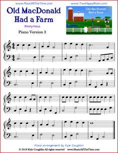 Old MacDonald Had a Farm simple sheet music for piano.,Old MacDonald Had a Farm simple sheet music for piano. Music Lessons For Kids, Music For Kids, Piano Lessons, Art Lessons, Piano Songs, Piano Music, Guitar Songs, Guitar Chords, Free Printable Sheet Music