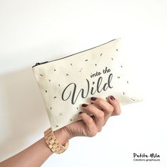 Into the wild  pouch  organic cotton by PetiteMila on Etsy