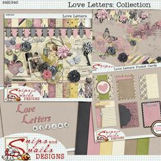 Love Letters Collection by Snips and Snails Designs