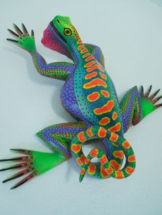 Special Iguana Lizard Oaxacan Wood Carving ALEBRIJE Sculpture Mexican Folk Art | eBay