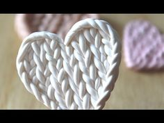 ▶ Faux Knitted Pattern: Polymer Clay Tutorial - YouTube