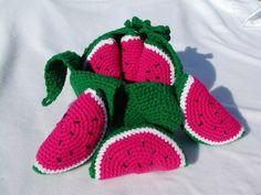 crocheted k items that sell Crocheted Peelable Watermelon-----PDF--PATTERN Crochet Fruit, Crochet Food, Cute Crochet, Crochet For Kids, Knit Crochet, Crochet Amigurumi, Amigurumi Patterns, Crochet Dolls, Crochet Patterns