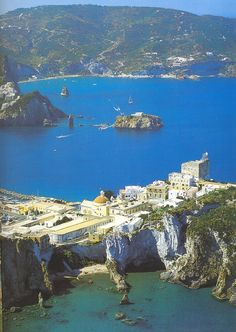 Isola Di Ponza, the largest of the Italian Pontine Islands archipelago, located 33 km south of Cape Circeo in the Tyrrhenian Sea