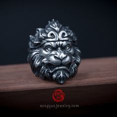 Jewelry Rings, Silver Jewelry, Jewellery, King Ring, Unusual Rings, Biker Rings, Animal Rings, Monkey King, Stylish Jewelry