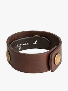 bracelet pression marron en cuir | agnès b. Fasion, Belt, Bracelets, Leather, Jewelry, Conkers, Accessories, Belts, Jewlery