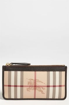 Burberry Check Print Coin & Card Case available at #Nordstrom
