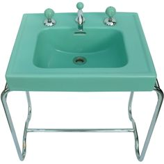Iconic Original Streamline Art Deco Sink By George Sakier | From a unique collection of antique and modern bathroom fixtures at http://www.1stdibs.com/furniture/building-garden/bathroom-fixtures/