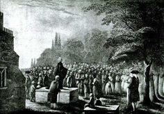 John Wesley Preaching at His Father's Grave John Wesley, Importance Of Reading, Cathedral Church, Lutheran, Cemetery, Youtube, Scenery, Outdoor, April 24