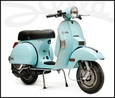 2-stroke Genuine Stella Scooter - Light Blue- spent a lot of time as a kid playing on a similar one