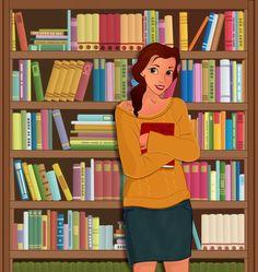 Modern Disney: Princess Belle by Ladybug-17.deviantart.com on @DeviantArt