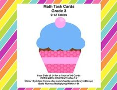 Grade 3 Math Task Cards for building speed in multiplication facts.Included are:96 Math Task Cards  Student Worksheets  Answer KeyCCSS.MATH.CONTENT.3.OA.C.7 calls for fluency within 100.  I am including up to 144 for classes that have indicated a need for including the 11 and 12 tables.