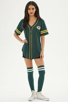 Product Name:NFL Packers Baseball Jersey, Category:CLEARANCE_ZERO, Price:16.99