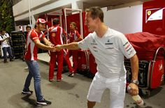 Jules Bianchi and Michael Schumacher.  Keep fighting guys! #forzajules #keepfightingmichael