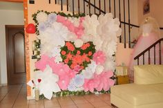 paper wall for bridal shower