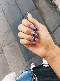 Pinterest: SobolSSS Turquoise Acrylic Nails, Diy Acrylic Nails, Fun Nails, Pretty Nails, Evil Eye Nails, Uñas Fashion, Solar Nails, Romantic Nails, Mauve Nails