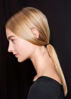 sleek low ponytail | back to school hairstyles 2016