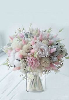 Lovely and delicate bouquet pastel flowers arrangement ll - .- Lovely and delicate bouquet pastel flowers arrangement ll – Blumen – Lovely and delicate bouquet pastel flowers arrangement ll – Blumen – - Bouquet Pastel, Pastel Flowers, Pastel Floral, Bridal Flowers, Dried Flowers, Beautiful Flowers, Bouquet Flowers, Pastel Pink, Pink Grey
