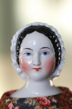 Antique China, Vintage China, Doll Head, Doll Face, China Porcelain, Porcelain Doll, Half Dolls, China Dolls, Antique Toys
