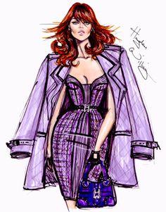 #Hayden Williams Fashion Illustrations #'Purple Reign' by Hayden Williams